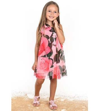 Amaya dress flowers pink