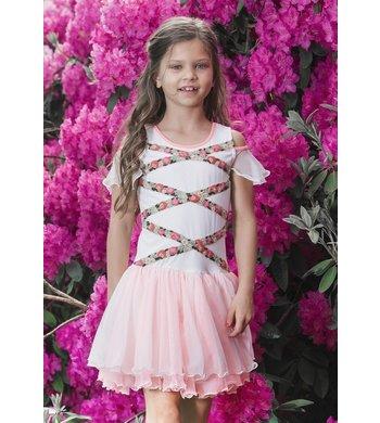 LoFff Off shoulder dress - Off white - Bright Peach