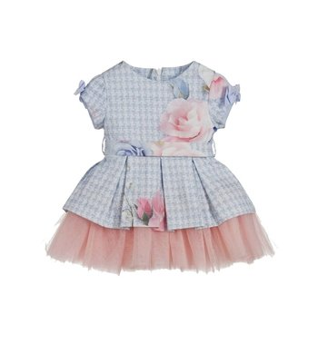 Lapin House dress with roses blue