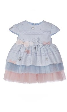 Lapin House party dress with bows blue