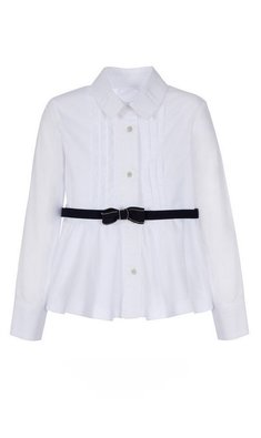 Lapin House blouse with belt white