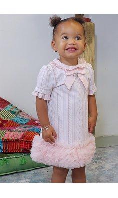 Lapin House jurkje met rand tule roze