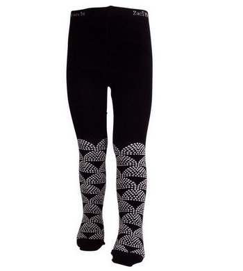 LoFff Graphic Tights Black Offwhite