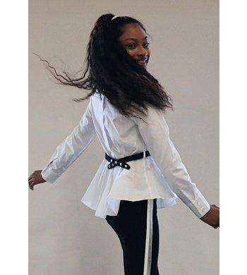 Lapin House blouse met ceintuurtje wit
