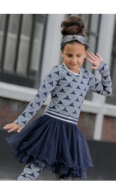 LoFff Dancing dress dots Dark blue - Off white - Silver