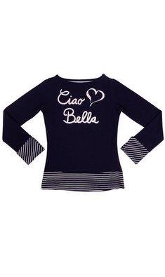 LoFff Shirt Ciao Bella Dark blue - Off white