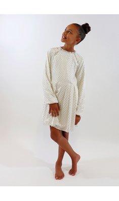 UBS.2 jurk offwhite/goud