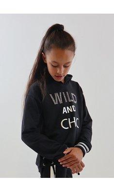 UBS.2 sweater met capuchon zwart