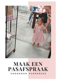 Your little girl can try on party dresses at our showroom in Purmerend!