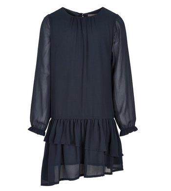 Creamie Dress Chiffon Total Eclipse Blue