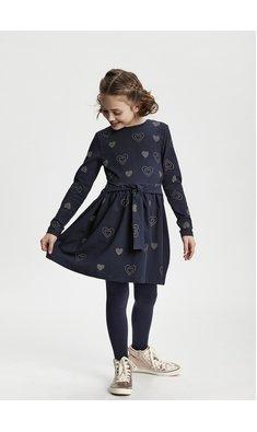 Me Too jurk met hartjes donkerblauw