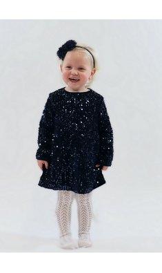 UBS.2 jurk pailletjes donkerblauw