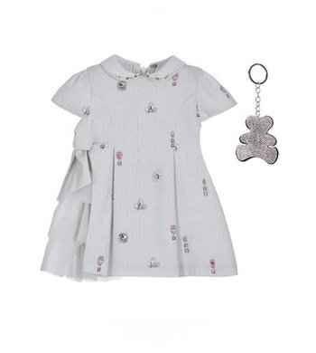 Lapin House dress light grey offwhite