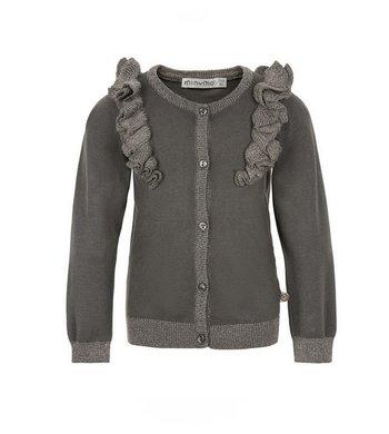 Minymo Cardigan knit Castlerock grey