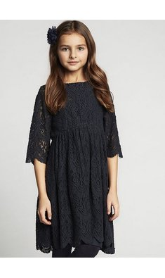 Creamie dress lace total eclipse blue