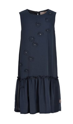Creamie dress chiffon flowers total eclipse blue