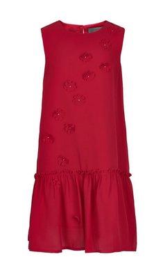 Creamie jurkje chiffon bloemen crimson rood