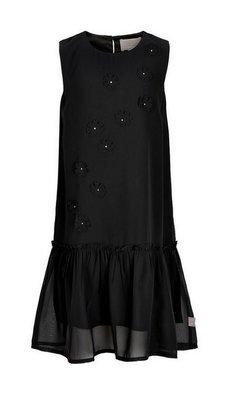 Creamie dress chiffon flowers black