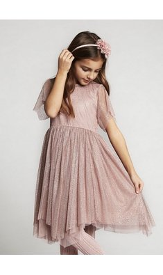 Creamie dress gold dotsdeauville mauve