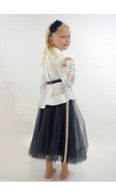 Lapin House skirt mesh blue
