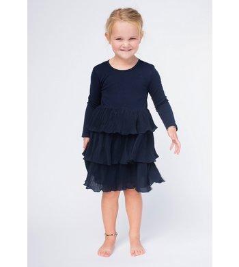 Happy Girls party dress layerd skirt blue