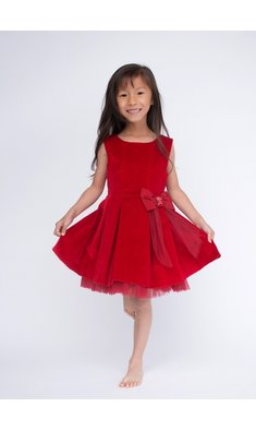 Lapin House dress velvet red