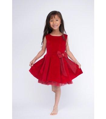 Lapin House dress velvet red