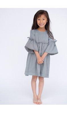 UBS.2 jurk ruitje zwart/wit
