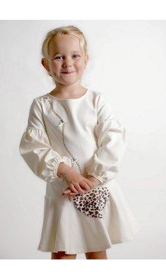 Kate Mack/Biscotti jurkje pantertasje ecru