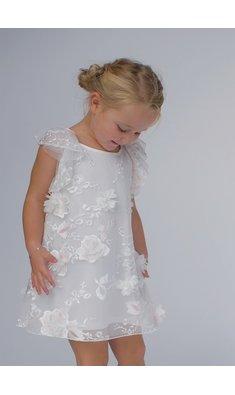 Kate Mack/Biscotti dress flowers offwhite