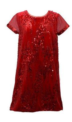 Bonnie Jean dress sequin red