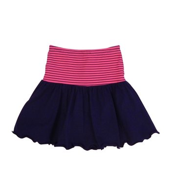 LoFff samples Flary skirt dark blue- fuchsia