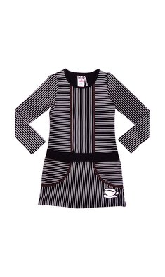 LoFff samples Graphic dress black- off white