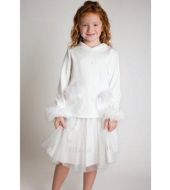 Lapin House skirt mesh offwhite