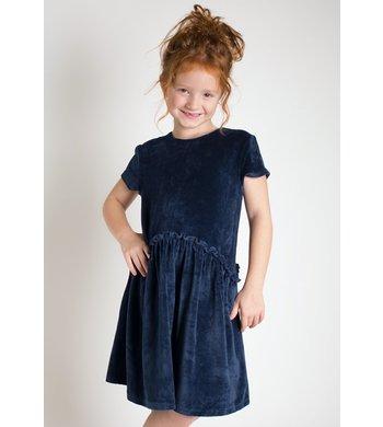 Happy Girls dress velvet blue