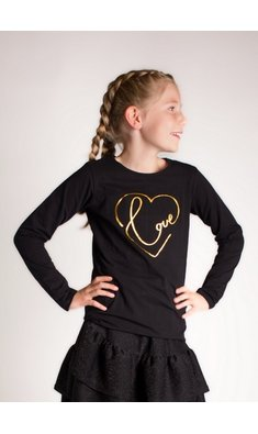 Creamie top love zwart