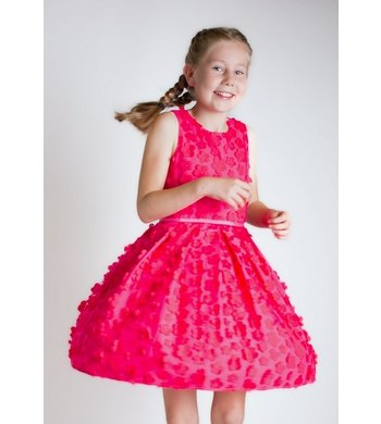 Derhy Kids Ilinka dress flowers framboise