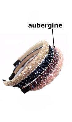 Party diadeem aubergine