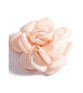 Meisjesfeest Art Collection roos met haarclip peach