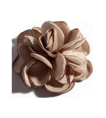 Meisjesfeest Art Collection roos met haarclip nude beige