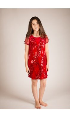 Bonnie Jean dress sequin red