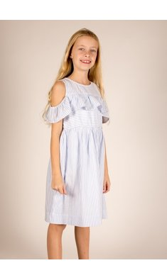 Creamie Dress Blue Stripe Xenon