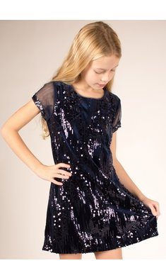 Bonnie Jean dress sequin blue