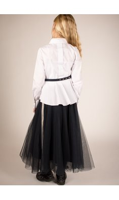 Lapin House skirt mesh blue