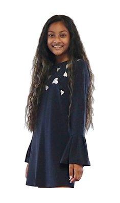 UBS.2 jurk hartjes donkerblauw