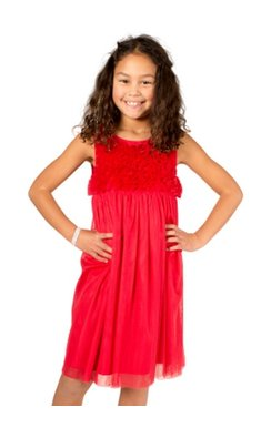 Derhy Kids Idaline dress flowers framboise