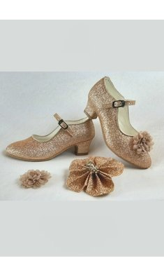 Amézing Shoes heels goud rose glitter