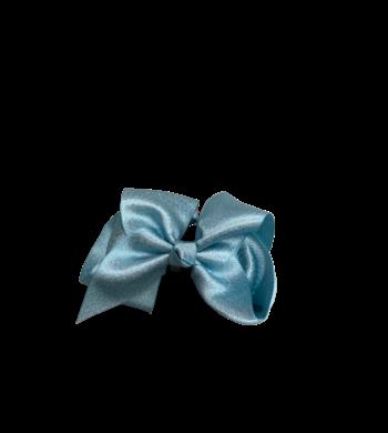 Party haarspeldje glitterstrik aquablauw