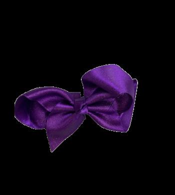 Party haarspeldje glitterstrik paars
