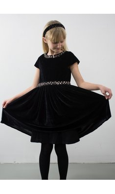 Derhy Kids Galiane dress velours strass black